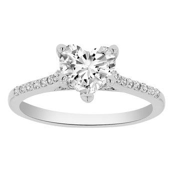 1 1/4ct tw Diamond Engagment Ring in 14K White Gold