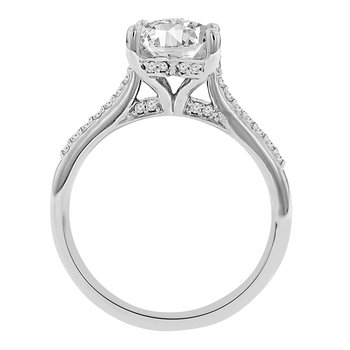 1 1/4ct tw Diamond Engagment Ring in 14K White Gold