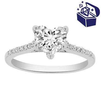 Treasure Hunt Value 1 1/4ct tw Diamond Engagment Ring in 14K White Gold