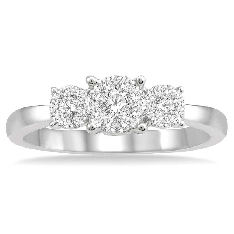1/3ct tw Diamond Thousand Points of Light Engagement Ring in 14K White Gold