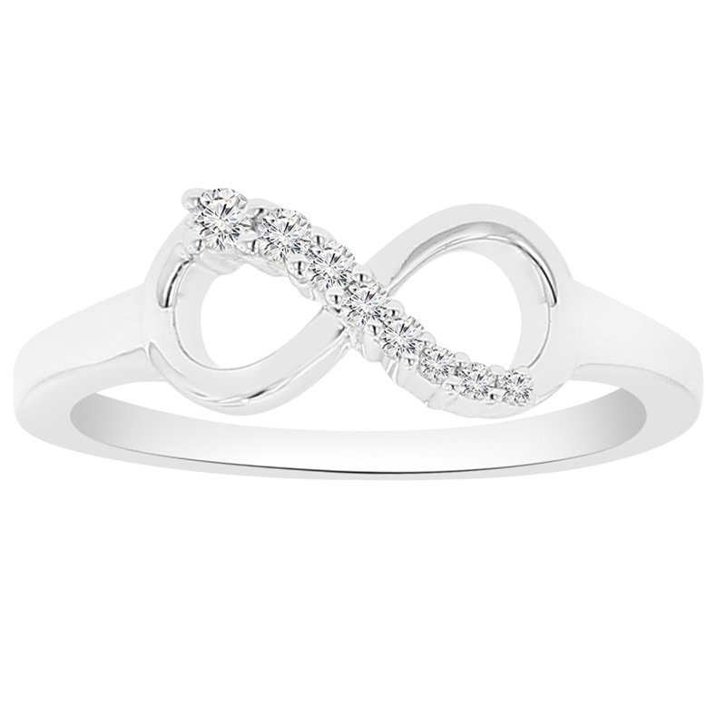 1/10ct tw Diamond Infinity Ring in 10K White Gold