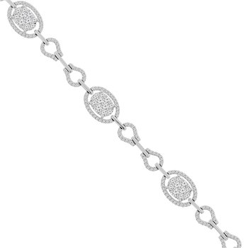 3ct tw Diamond Thousand Points of Light Fashion Bracelet in 18K White Gold