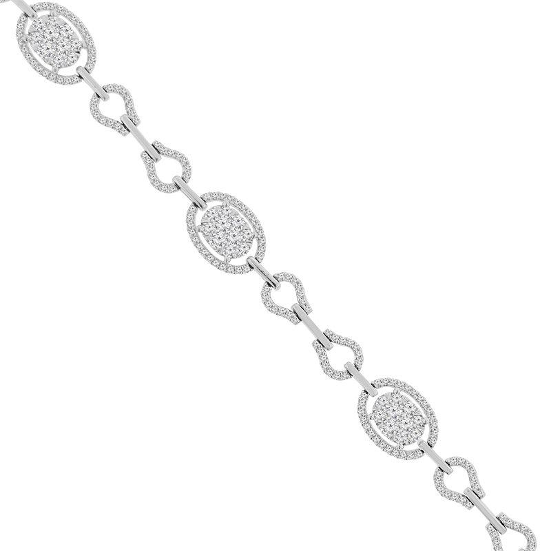 3ct tw Diamond Thousand Points of Light Fashion Bracelet in 18K White Gold
