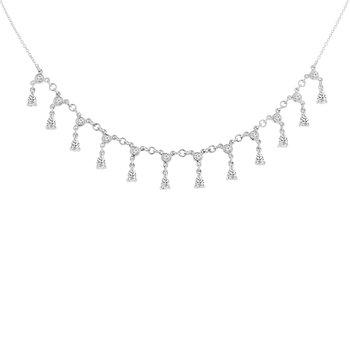 1 1/3ct tw Diamond Fashion Necklace in 14K White Gold