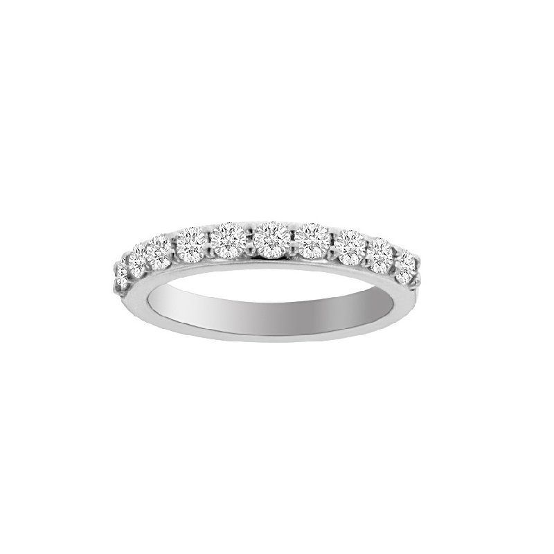 5/8ct tw Diamond Stars Above Wedding Ring in 19K White Gold