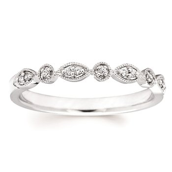 .06ct tw Diamond Stackable Ring in 14K White Gold