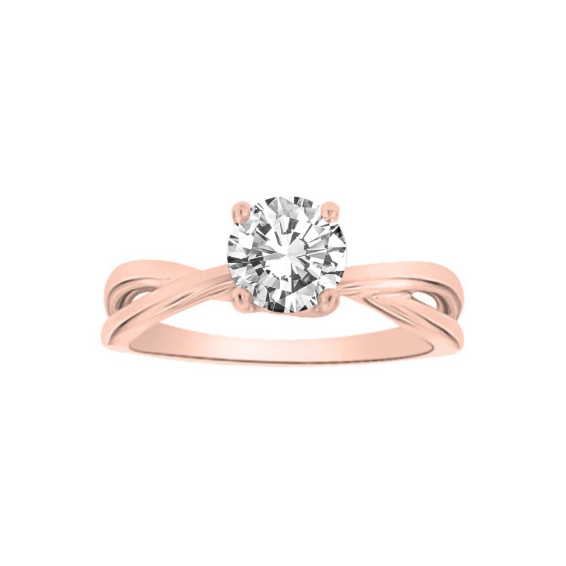 1ct tw Diamond Solitaire Engagement Ring in 14K Rose Gold
