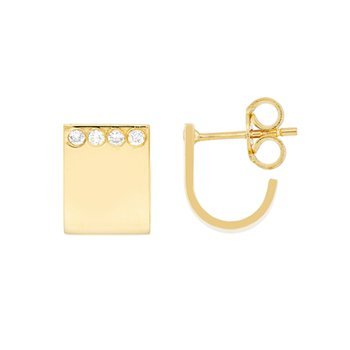 .03ct tw Diamond Huggie Earrings in 14K Yellow Gold