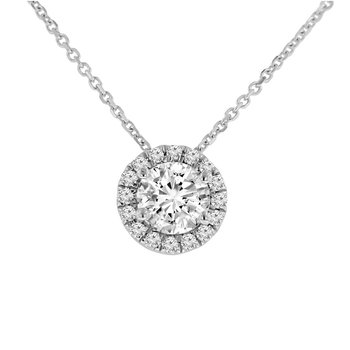 1ct tw NewBorn Lab Created Diamond Simply Love Collection Necklace in 14K White Gold