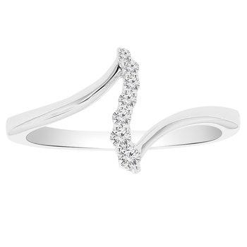 1/10ct tw Diamond Journey Fashion Ring in 10K White Gold
