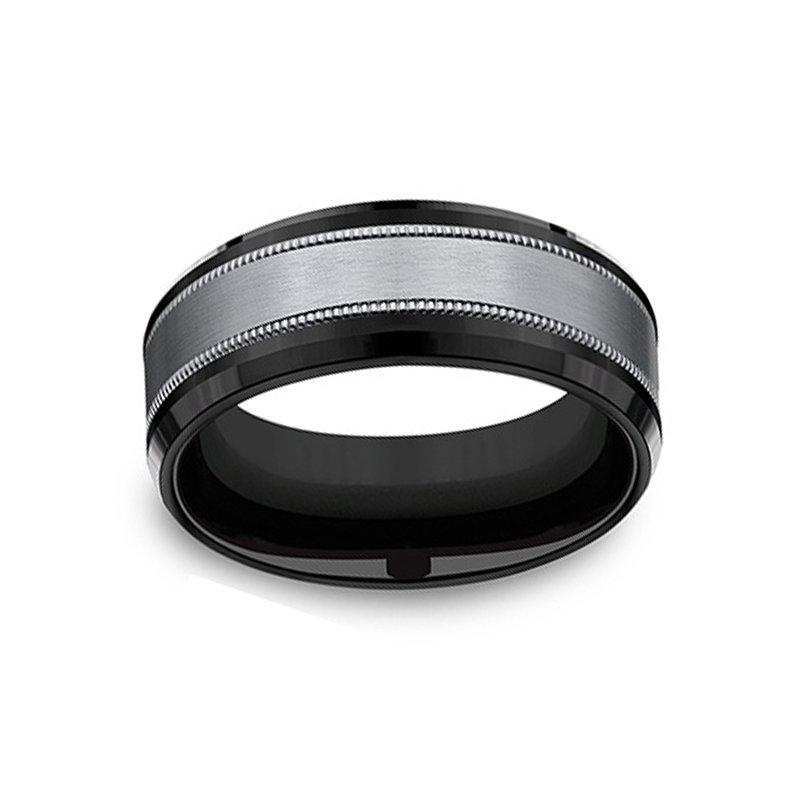 8mm Wedding Ring in Tantalum & Titanium