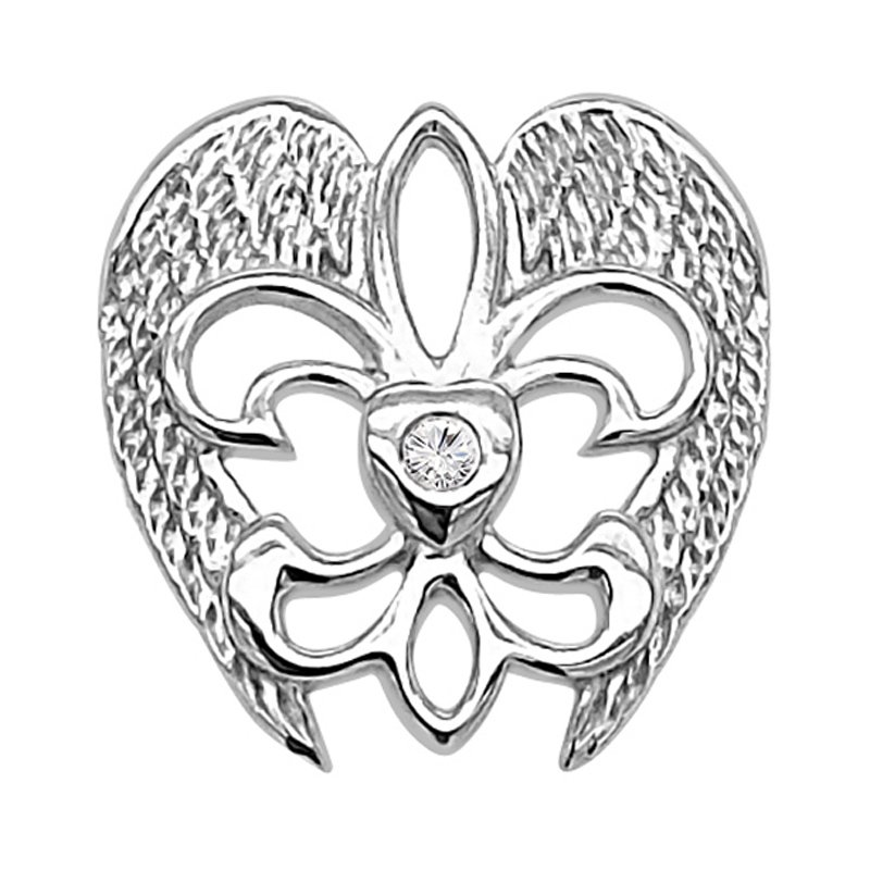 .02ct tw Diamond Rise Up Nola Collection Pin in Sterling Silver