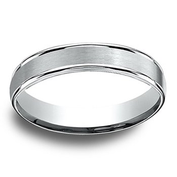 4mm Wedding Ring in 14K White Gold