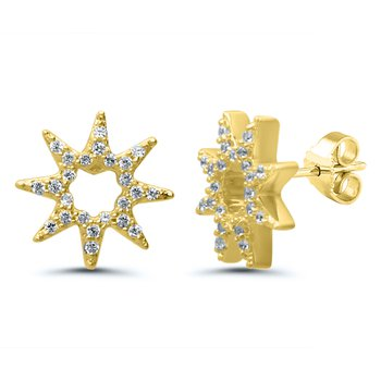 1/8ct tw Diamond Fashion Stud Earrings in 10K Yellow Gold