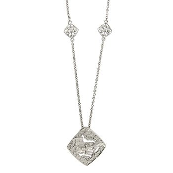 Nola Collection Carriage Necklace in Sterling Silver