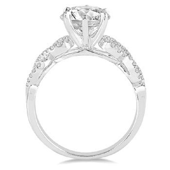1ct tw NewBorn Lab Created Diamond Engagement Ring in 14K White Gold
