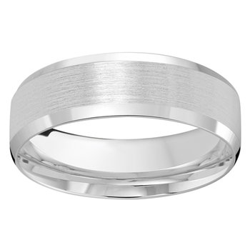7mm Wedding Ring in 10K White Gold