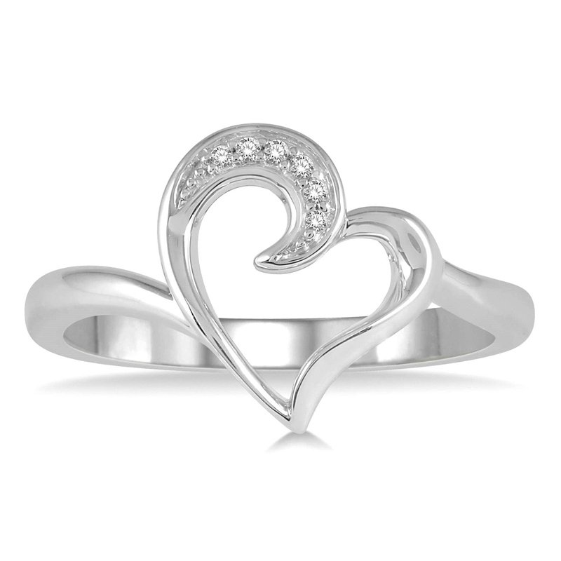 .03ct tw Diamond Heart Ring in Sterling Silver