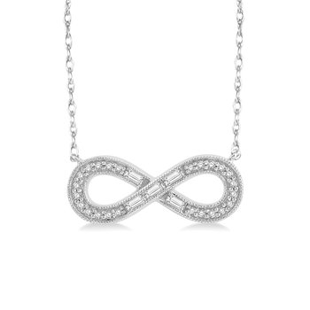 1/5ct tw Diamond Infinity Necklace in 10K White Gold