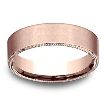 6.5mm Wedding Ring in 14K Rose Gold