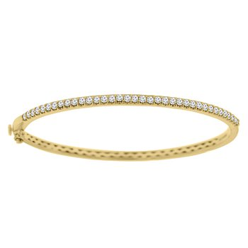1ct tw Diamond Bangle Bracelet in 14K Yellow Gold