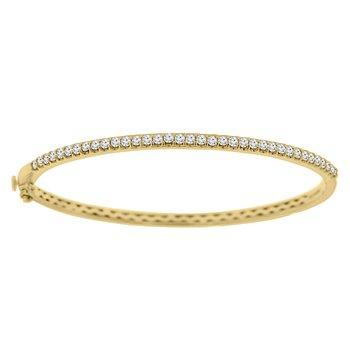1ct tw Diamond Bangle Bracelet in 14K Yellow Gold
