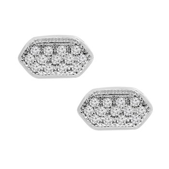 1/3ct tw Diamond Fashion Stud Earrings in 14K White Gold