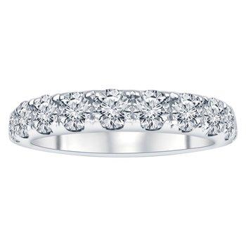 1 1/2ct tw NewBorn Lab Created Diamond Anniversary Ring in 14K White Gold