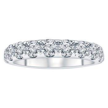 1 1/2ct tw NewBorn Lab Created Diamond Anniversary Ring in 14K White Gold