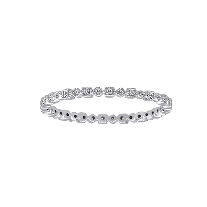 .03ct tw Diamond Stackable Ring in 14K White Gold