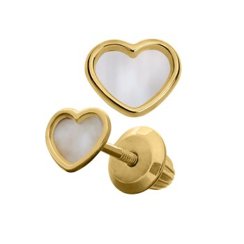 Heart Earrings in 14K Yellow Gold
