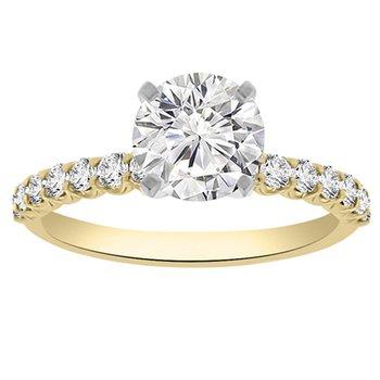 1 7/8ct tw NewBorn Lab Created Diamond Engagement Ring in 14K Yellow Gold