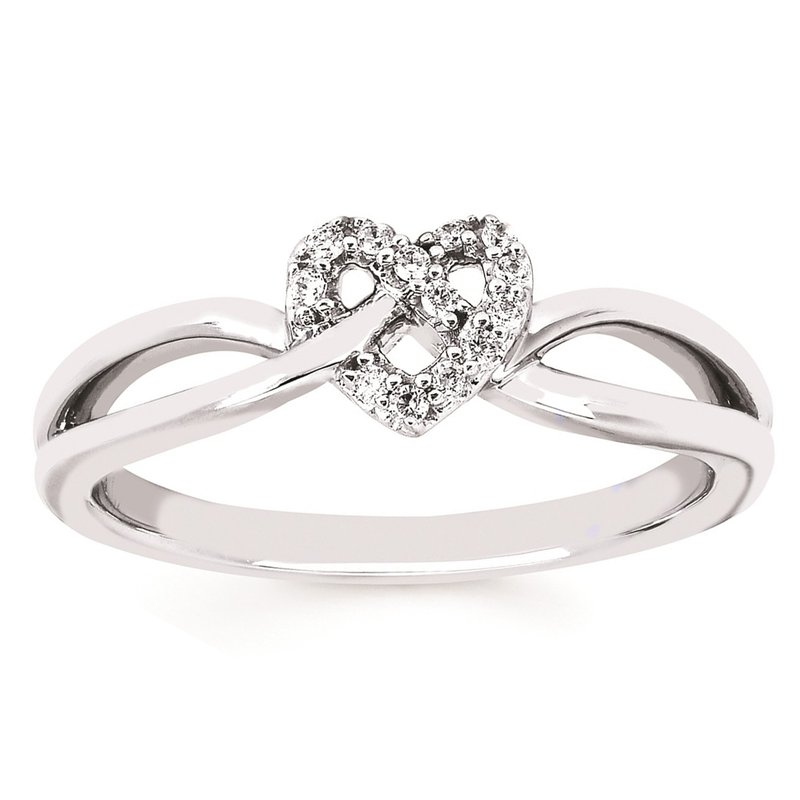 .06ct tw Diamond Heart Ring in Sterling Silver