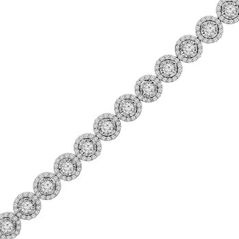 3 3/4ct tw Diamond Simply Love Collection Tennis Bracelet in 14K White Gold