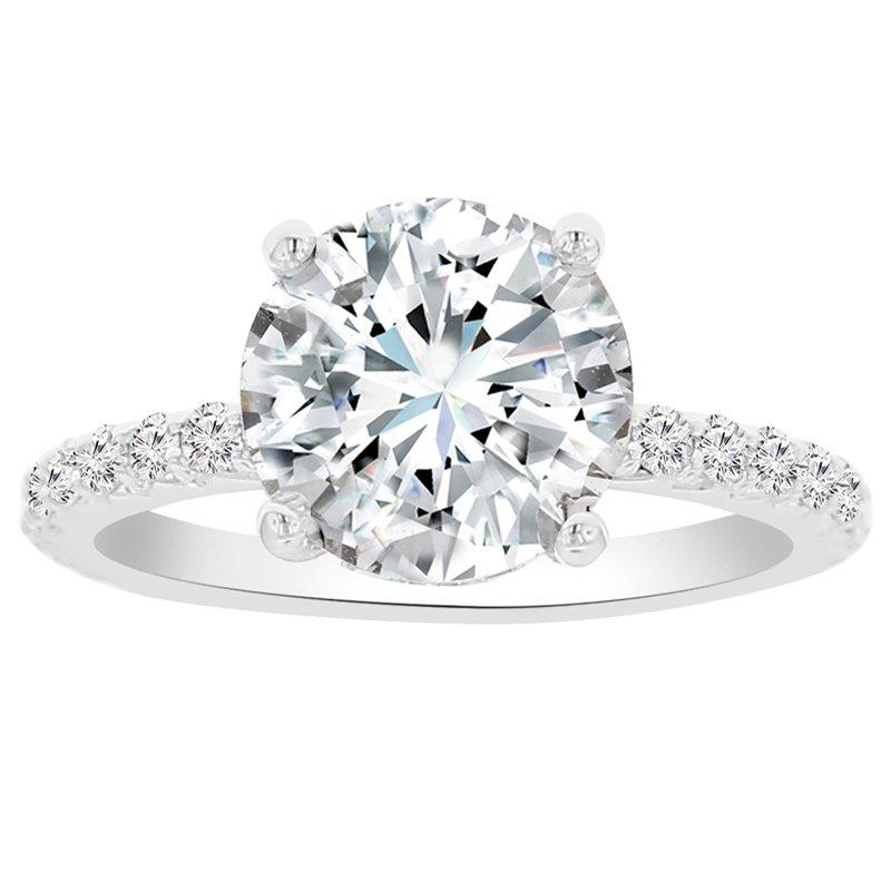 3 3/4ct tw NewBorn Lab Created Diamond Engagement Ring Setting in 14K White Gold