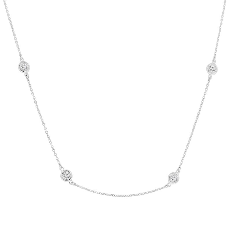 1 1/3ct tw NewBorn Lab Created Diamonds by the Yard Necklace in 14K White Gold