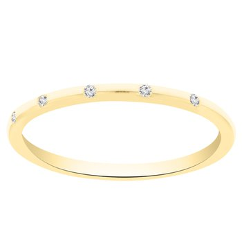 .03ct tw Diamond Stackable Ring in 14K Yellow Gold