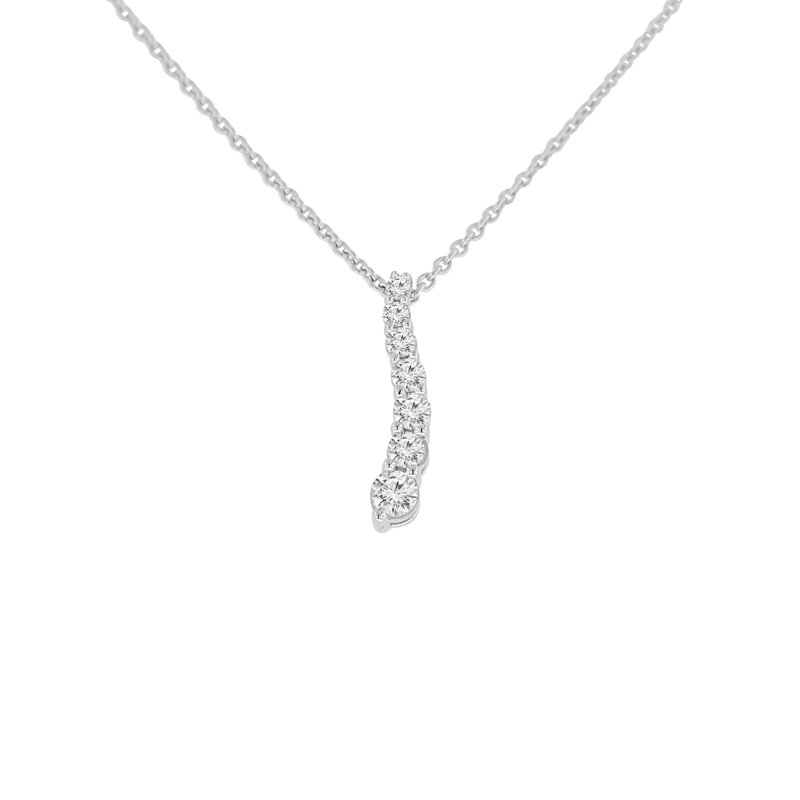 1/4ct tw Diamond Journey Necklace in Sterling Silver