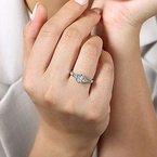 .06ct tw Diamond Engagement Ring Setting in 14K White Gold