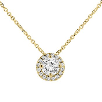 5/8ct tw Diamond Simply Love Collection Necklace in 14K Yellow Gold