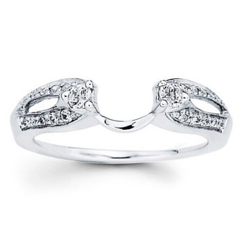 1/4ct tw Diamond Wedding Ring Wrap in 14K White Gold