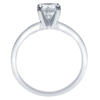 1 1/2ct tw Diamond Solitaire Engagement Ring in 14K White Gold