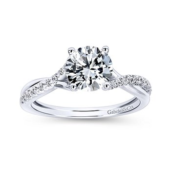 7/8ct tw Diamond Engagement Ring in 14K White Gold