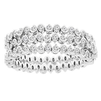 1 1/5ct tw Diamond Flexi Collection Ring in 14K White Gold