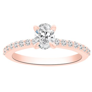 3/4ct tw NewBorn Lab Created Diamond Engagement Ring in 14K Rose Gold