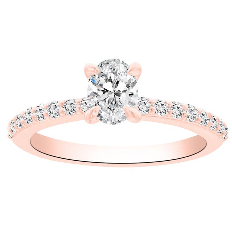 3/4ct tw NewBorn Lab Created Diamond Engagement Ring in 14K Rose Gold