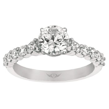 3 3/4ct tw Diamond Engagement Ring in 14K White Gold