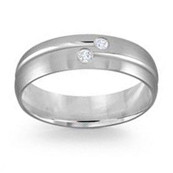 .06ct tw Diamond Wedding Ring in 14K White Gold