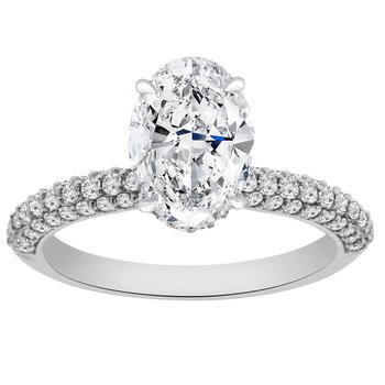 1 7/8ct tw NewBorn Lab Created Diamond Engagement Ring in 14K White Gold