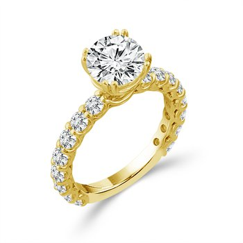 3/4ct tw Diamond Engagement Ring Setting in 14K Yellow Gold